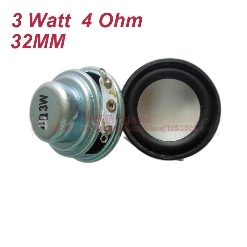 2 sztuk 4 Ohm 3 W głośnik 32 MM głośnik 18 MM wewnętrzny magnetyczny 13 MM cewka drgająca podwójny magnes PU krawędzi wysokość 17 MM