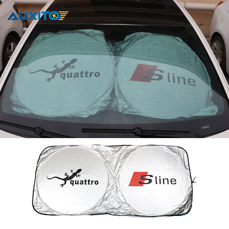 New Car-styling Car Front Windshield Sunshade For Audi Quattro Sline A3 A4 B6 B5 B7 B8 A7 Q3 Q5 Q7 A8 A6 C5 Q5 TT S4 S6 S7 RS 2xled car door logo projection warning light for audi a3 a4 b6 a6 c7 c5 q7 q5 a5 80 b7 b8 tt b8 rs4 rs5 rs6 s4 s5 s6 s7 quattro