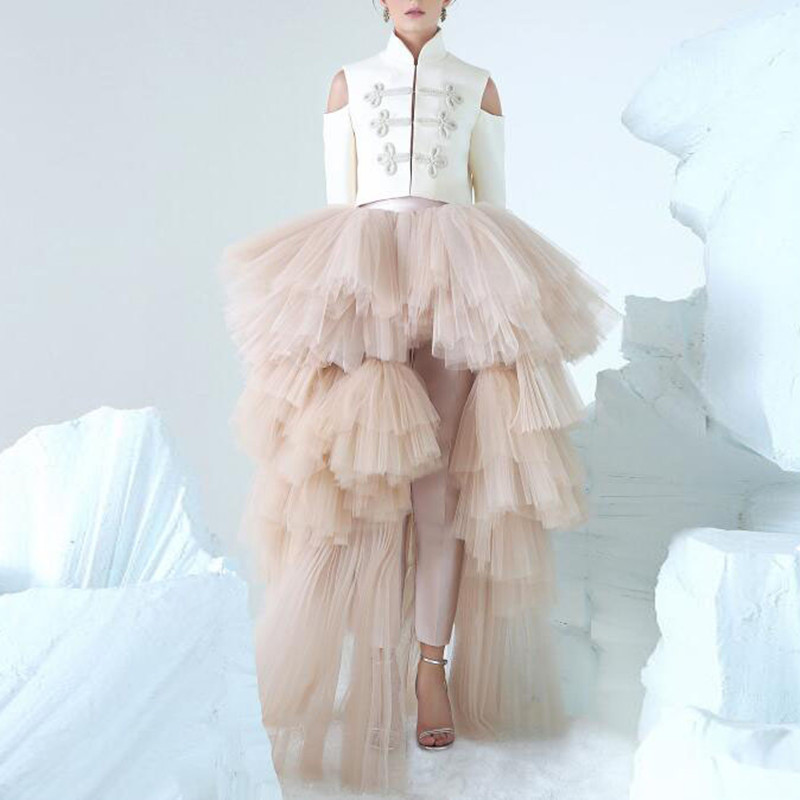 357a3a32afa83 Asymmetrical High Low Tiered Puffy Tulle Skirts For Women Special ...