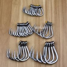 20pc PRO BEROS Saltwater Fishing Hook SJ42 JIGGING HOOK 3/0#-11/0# Model Stainless Steel Fishhook Made in Taiwan