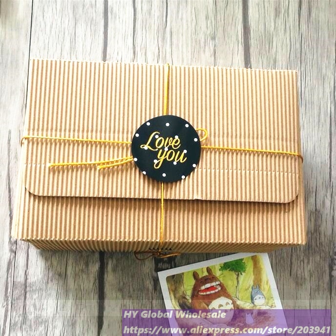 Купить с кэшбэком 60pcs Classic thank you love you words Gilding style Adhesive Baking sealing label For Party Favor Gift Bag Candy Box Decor
