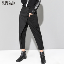 SuperAen Autumn Women's Europe Cotton Wild Casual Ladies Ankle-length Pants 2018