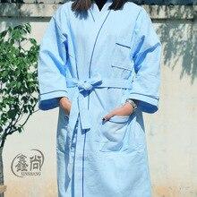 2017 Pijama Hombre халат peignoir Homme кимоно новые модные хлопковые халат в весной и осенью всасывания увеличение взрослых мягкие