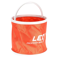LEO Outdoor Canvas Bucket Folding Portable Camping Hiking Fishing Tackle Tools