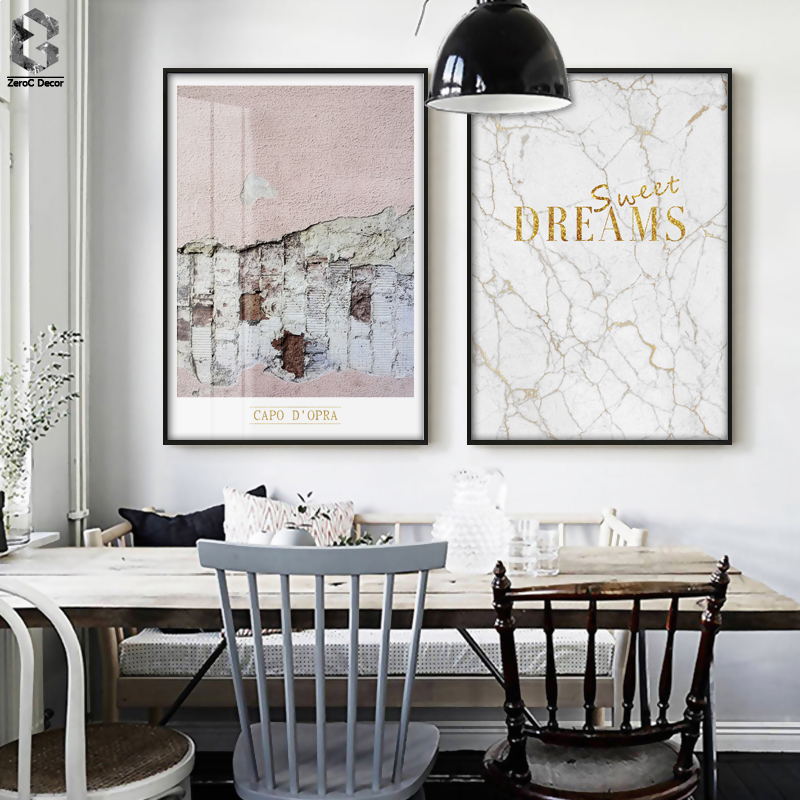 Nordic Wall Art Canvas Painting Posters And Prints Wall Pictures For Living Room Poster Scandinavia Marble Decoration Pictures in Painting Calligraphy from Home Garden
