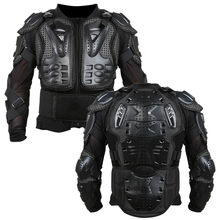 Motorcycle Armor Jacket Full Motorcycle Body Armor Shirt Jacket Motocross Back Shoulder Protector Gear S-XXXL Black(China)
