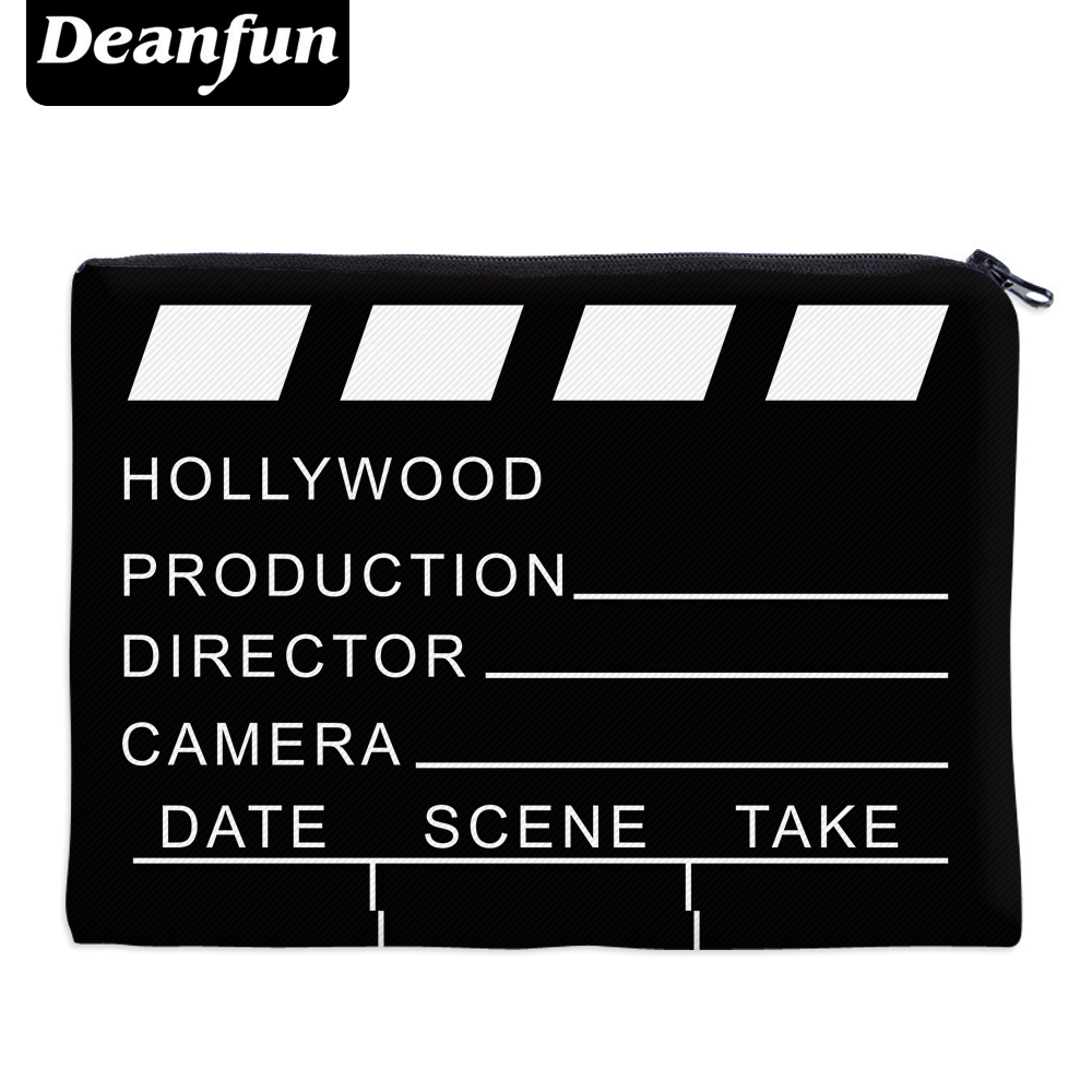 Deanfun Black Necessaries for Travelling Organizer Makeup Women Letter Cosmetic Bags with Zipper 85004 #Deanfun Black Necessaries for Travelling Organizer Makeup Women Letter Cosmetic Bags with Zipper 85004 #