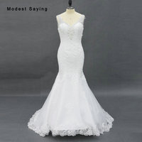 Sparkling Lace Wedding Dress With V Cut Neckline And Deep Open Back In Fit And Flare