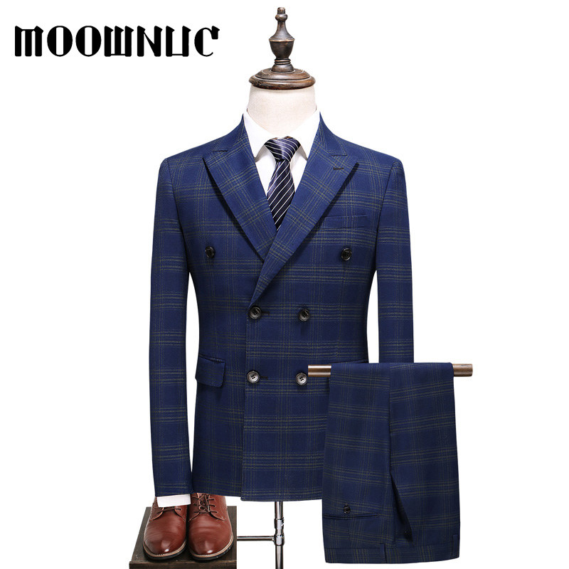 High-quality Suits Autumn Large Size Double-breasted Business Men Fashion Full Dress 5XL Trousers Vest Classic Three piece set