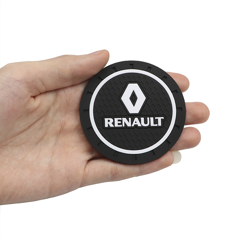 Image 3 - 1pcs Car Styling PVC Car non slip coaster Mat Case For Renault duster megane 2 megane 3 capture fluence clio kadjar scenic 2-in Anti-Slip Mat from Automobiles & Motorcycles