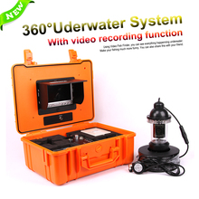 CCD 1200TVL 360 Degree Underwater Rotating Fishing Camera Kit Control Box With Video recording function 7″ TFT Color Fish Finder