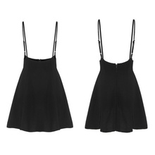 Liva girl Black Skirt with Shoulder Straps
