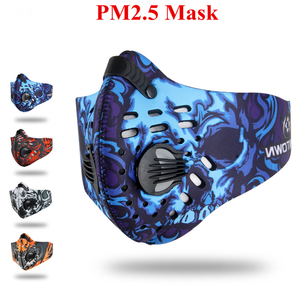 2018 Pro PM2.5 Dust Mask Cycling Respirator Activated Carbon Breathable Filter Outdoor Running Protection Face Mask
