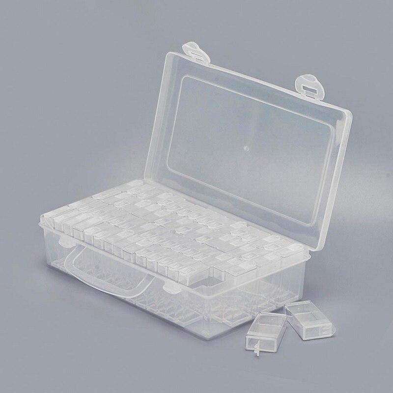 Neue Mode Diamant Malerei Box DIY Diamant Stickerei Mosaik Werkzeuge Perle Transparent Kunststoff Bohrer Lagerung Box Vermeiden Fräulein Bohrer