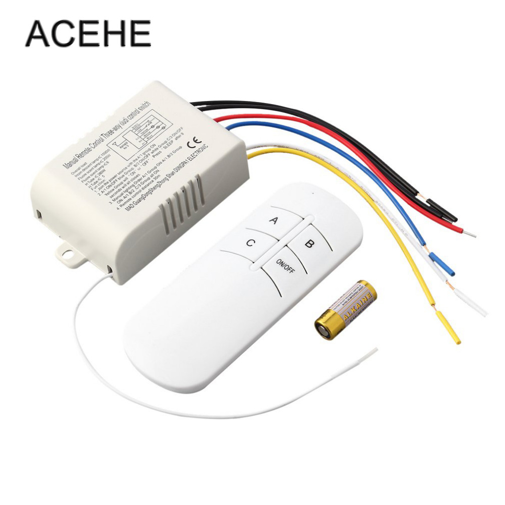 hight resolution of acehe 1pc 220v 3 way on off digital rf remote control switch wireless motion sensor switch for light lamp drop shipping