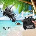 Mini Drone Drone Headless DM003 2.4G 4CH 6-Axis Mini RC Gyro Quadcopter con Cámara de 0.3MP WIFI RC helicóptero RC juguete