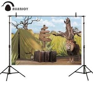 Image 2 - Allenjoy fotoğraf backdrop jungle safari aslan afrika macera arka plan photocall parti dekor fotoğraf stüdyosu fotoğraf standında