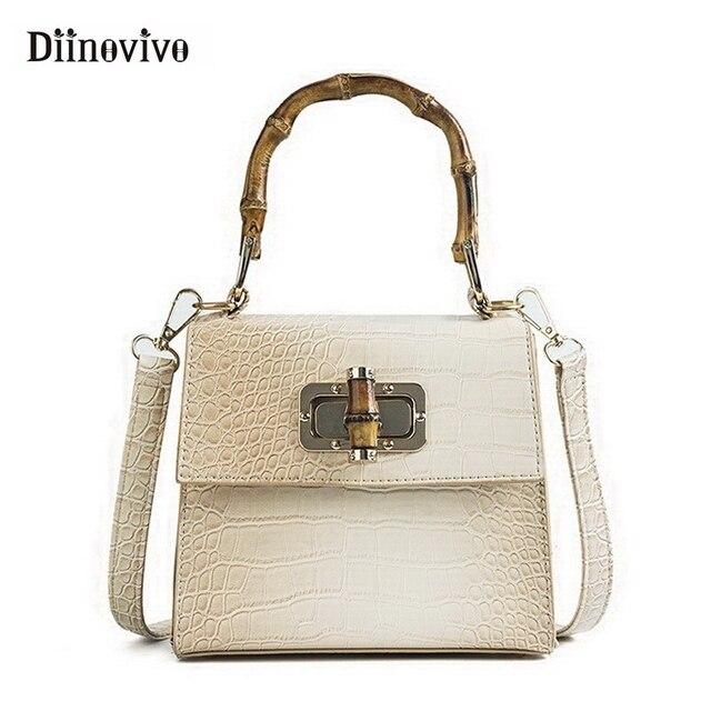 122d8c09d9 DIINOVIVO marque à la mode femmes sacs main de luxe Designer sac fourre  tout poignée en bambou dames rétro femme WHDV0790
