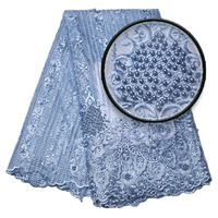 French Lace Fabric High Class African Laces Fabric Double Organza With Pearls Embroidery For Sewing Beauty