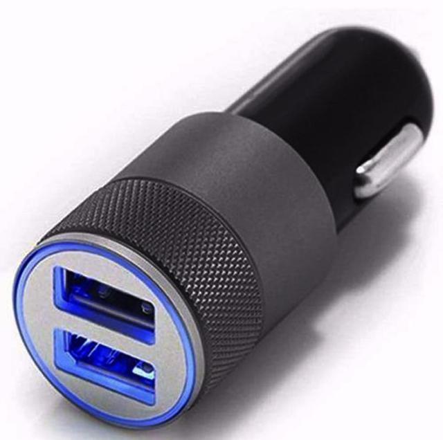 Mini Puerto doble USB 12 V Universal en el enchufe del adaptador del cargador del mechero del coche Mar2