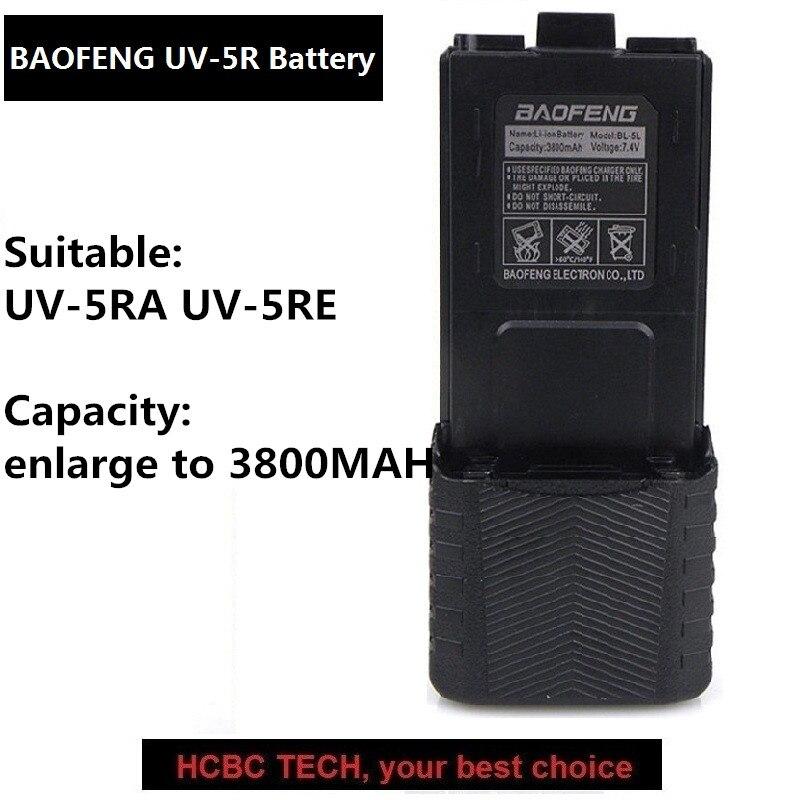 Livraison Gratuite BAOFENG UV-5R UV5RA UV-5RE Batterie Agrandir 3800 mah Talkie Walkie Portable 2 Way Radio UHF/VHF Baofeng accessoires