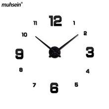 acryl stickers woonkamer clok 2018 nieuwe wandklok quartz horloge reloj de pared modern design grote decoratieve klokken Europa