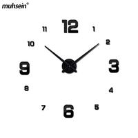 acrylic stickers living room clok 2018 new wall   clock   quartz watch reloj de pared modern design large decorative   clocks   Europe