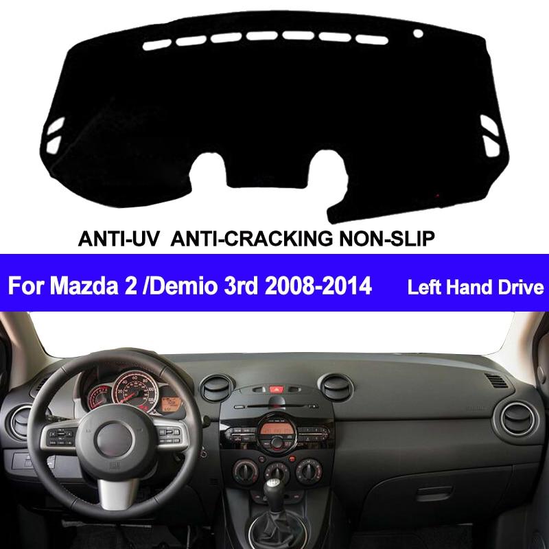 TAIJS Car Dashboard Cover Dash Mat Dash Board Pad Carpet Dashmat Anti-UV For Mazda 2 Demio 3rd 2008-2010 2011 2012 2013 2014
