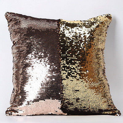 Colorful Patchwork Throw Pillow Case Glitter Sequins Cushion Cover Bling Bling Sofa Decoration