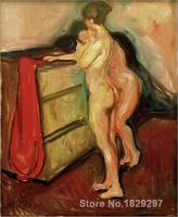 Two female nudes by Edvard Munch Canvas art Painting High quality Hand painted