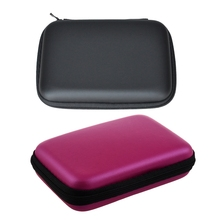 2 PCS Portable Hard Disk Drive Shockproof Zipper Cover Bag Case 2.5 inch HDD Bag Hardcase Black & Rose Red guanhe waterproof portable external 2 5 hdd bag case external hard disk drive bag carry case pouch cover pocket shockproof