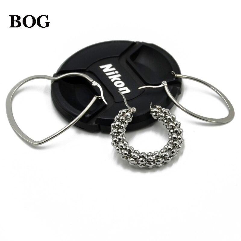 BOG-Pair Women Round Corn Chain,Heart,Dew Drop Ear Hoops Earring Ear Weights Body piercing jewelry Body Jewelry