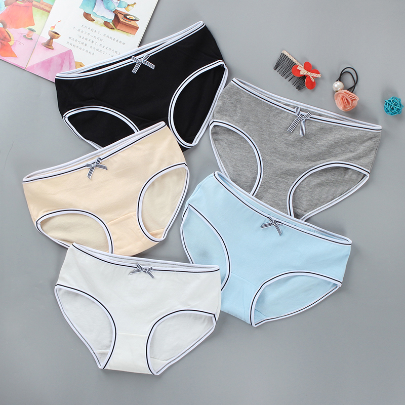 Girls Panties Briefs Colorful Cotton/Spandex 8-14Years Adolescente Kids Teen Young Hipster Underwear Sport Bow 1 Piece