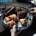 JINSERTA металлический сервировочный поднос фруктовый десертный торт тарелка для хлеба антикварная железная ручная корзина для хранения для д...