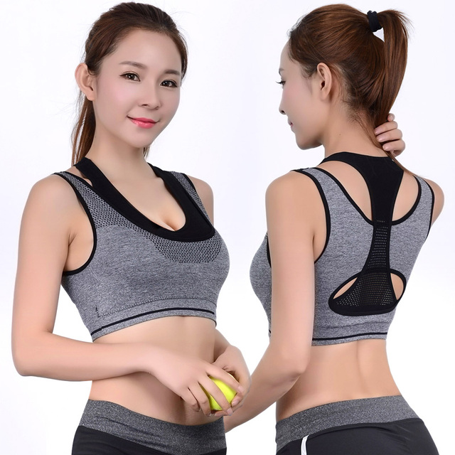 e9f937e3af Double Layer Seamless Push Up Padded Wirefree Professional Running Vest  High Impact Racerback Double Layer Yoga Sports Bra