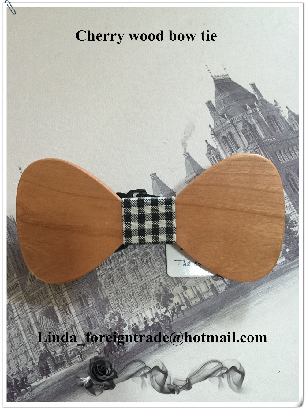 hand-carved wooden bow tie men and women can be used. Fashion bow tie Christmas gifts