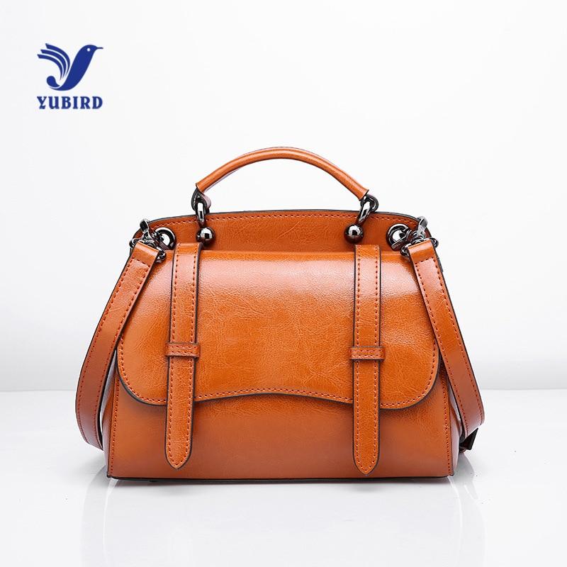 YUBIRD Female Leather Handbag Women Shoulder Bag Famous Brands Oil Wax Leather Small Bag bolsas de couro feminina bolsos mujer мужской ремень cinto couro marca