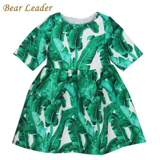 Лидер медведь Девушки Платье 2016 Бренд Зима Детская Одежда Европейский и Американский Стиль Pettern Дизайн для Девочек Одежда 3-8Y