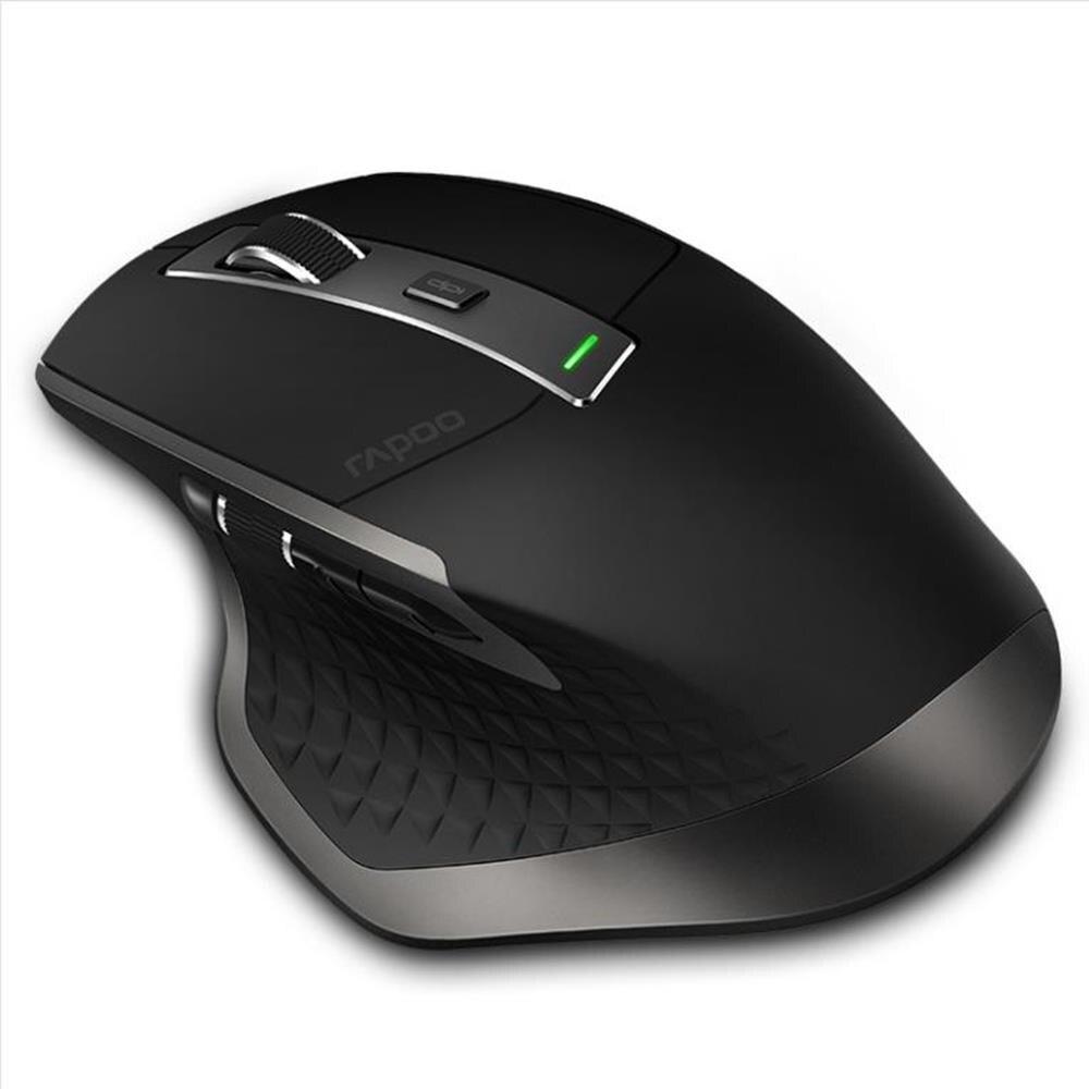 Rapoo Rechargeable Multi-mode souris sans fil Bluetooth 3.0/4.0 Et 2.4G Commutateur Pour Quatre Appareils Connexion Ordinateur de Jeu souris - 2