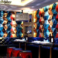 beibehang KTV wall paper 3d stereo personality fashion flash bar hotel fancy dance hall box theme room wallpaper papel de parede