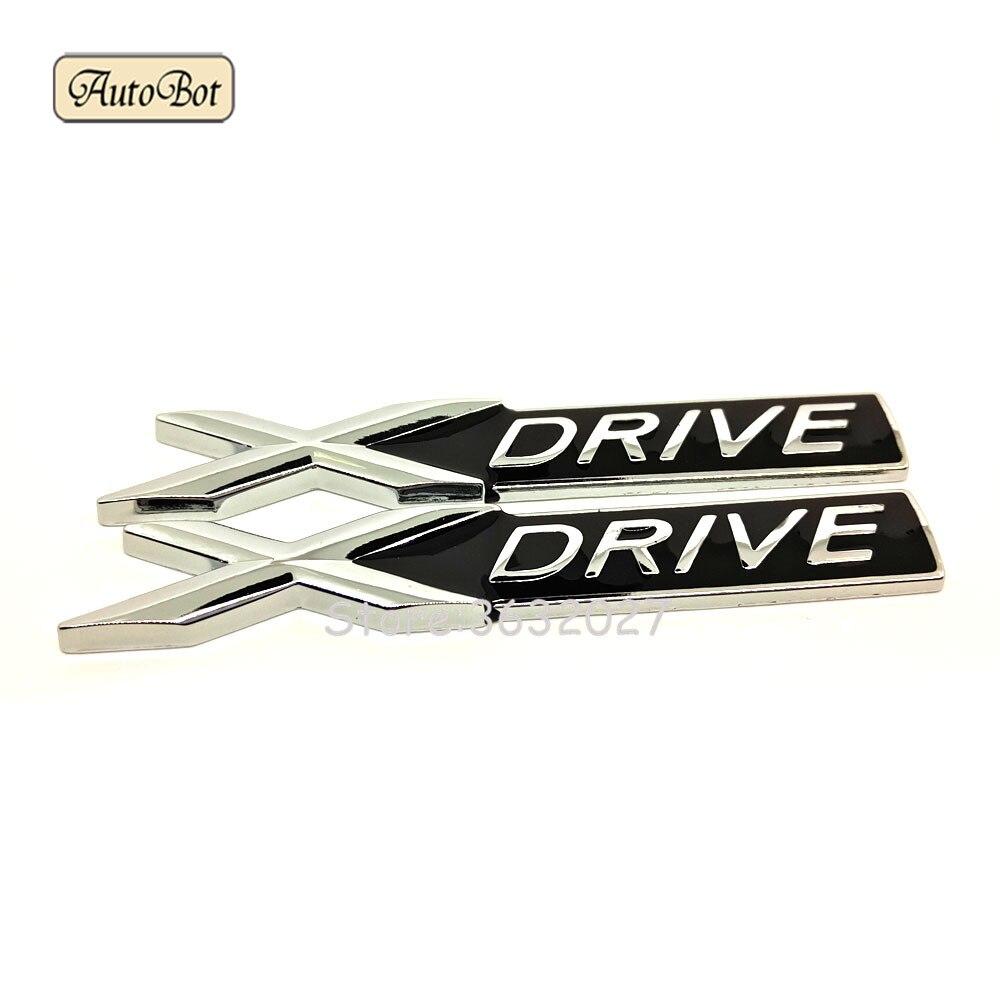 3D Chrome Metal X-Drive Car Rear Emblem Badge Styling Sticker For BMW X6 3 5 7 Series E46 E39 E36 E90 E60 F10 F30 X5 E53 E34 F20 car styling trunk lid rear emblem badge chrome letters sticker 125i 128i 130i 135i for bmw 1 series f20 f21 e81 e82 e87 e88