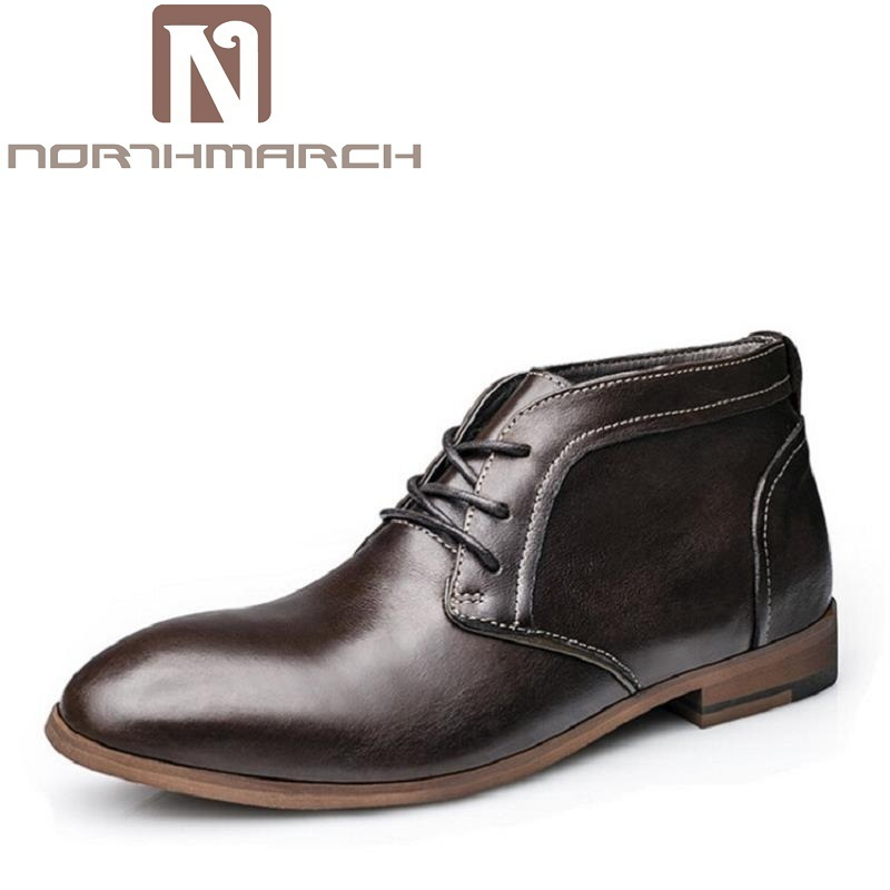 NORTHMARCH Men Winter Shoes 2017 Warm Working Safety Comfortable Men Martin Boots Men'S Autumn Winter Boots Sapatos Masculino mulinsen latest lifestyle 2017 autumn winter men