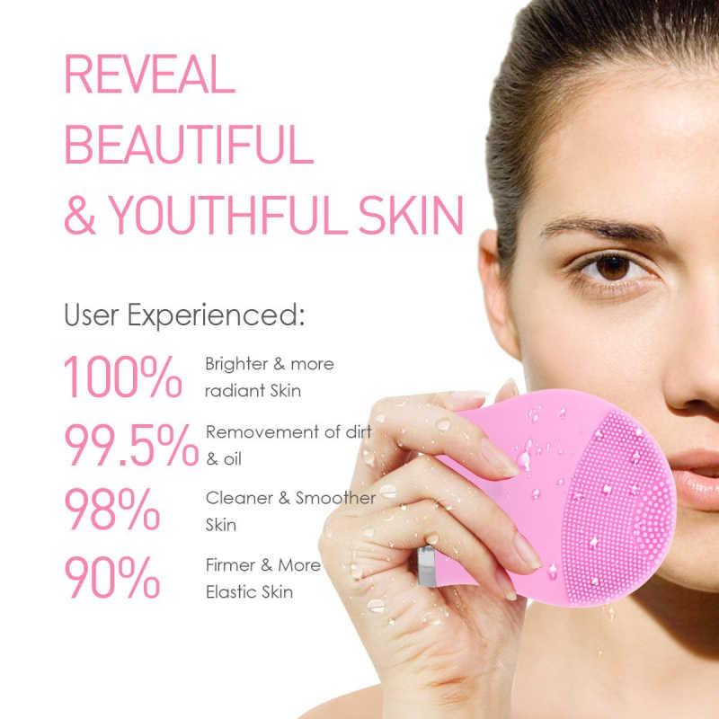 Do czyszczenia twarzy z silikonu elektryczny wibracje oczyszczanie porów szczotka do twarzy urządzenie do masażu głębokiego czyszczenia zwiększyć elastyczność skóry