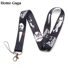 Homegaga The Godfather vintage 90s fashion movie neck lanyards for keys card holder bead keychain phones cameras webbing D1273