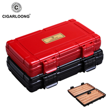 cigar box travel portable moisturizing humidor holds 4 cigars CA-0021