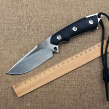 New Fixed D2 Blade Knife Bolte G10 Handle With Kydex Sheath Survival Knives Hunting Tactical Knifes Camping Outdoor Tools K56
