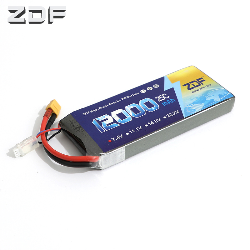 ZDF Good Quality Lipo Battery 7 4V 12000MAH 25C 50C RC AKKU Bateria for Airplane Helicopter