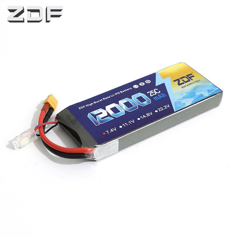 ZDF Goede Kwaliteit Lipo Batterij 7.4V 12000MAH 25C 50C RC AKKU Bateria voor Vliegtuig Helikopter Boot FPV Drone UAV-in Onderdelen & accessoires van Speelgoed & Hobbies op  Groep 1