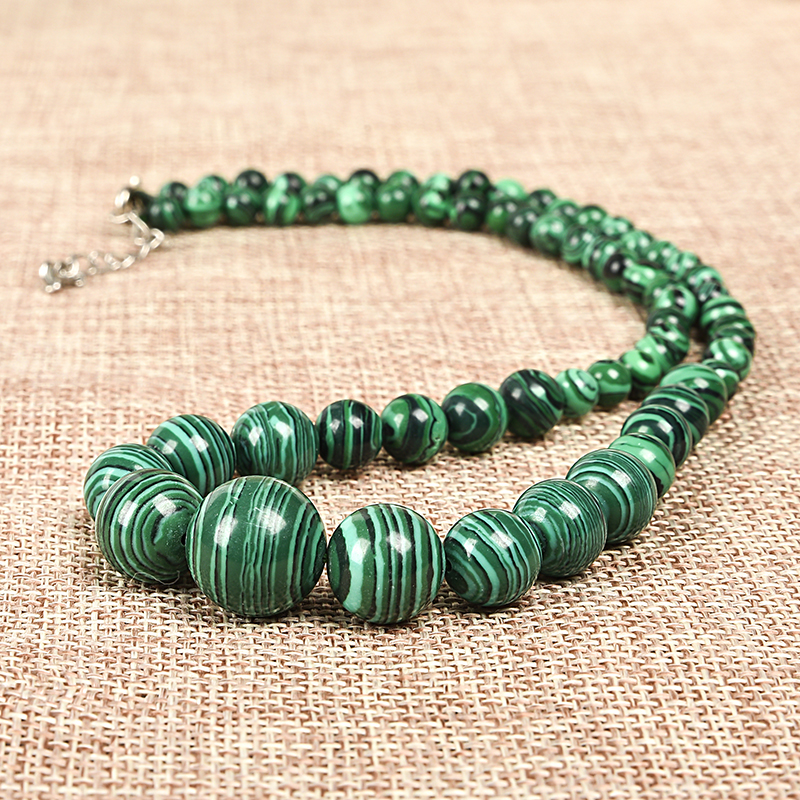 Light Green Confectionery Handmade  Beads Of Size Are Combined   Make Green Synthesis Malachite Jewelry Series Necklace