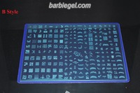 2014 Fashion Design BIG SIZE Konad Stamping Nail Art Template DIY Nail Salon Image Plate A